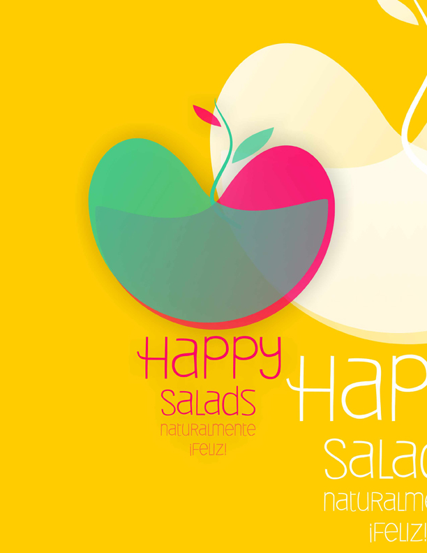 Logotipo Happy Salads / Propuesta